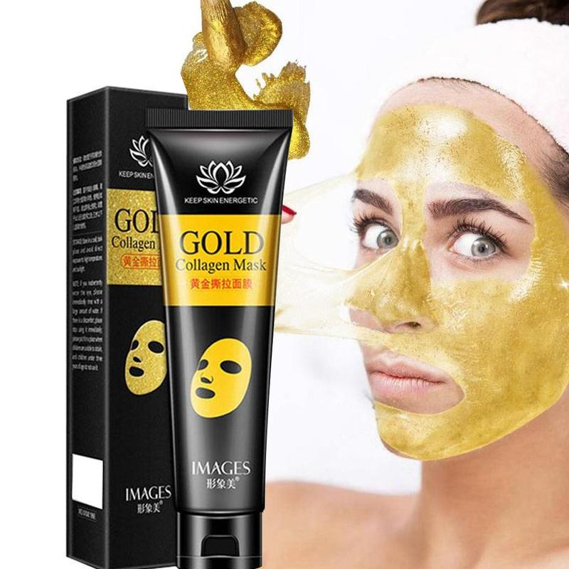 24K Gold Collagen Peel Off Facial Mask Anti Aging Whitening Wrinkle Lifting Firming To Blackheads Smooth Tear Masks Skin Care