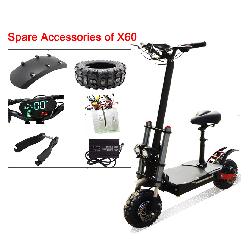 Electric Scooter Parts For X60 11inch Off Road 80KM/H 60V3200W Electric Motor Adult Kick E Scooter Patinete Electrico Adulto