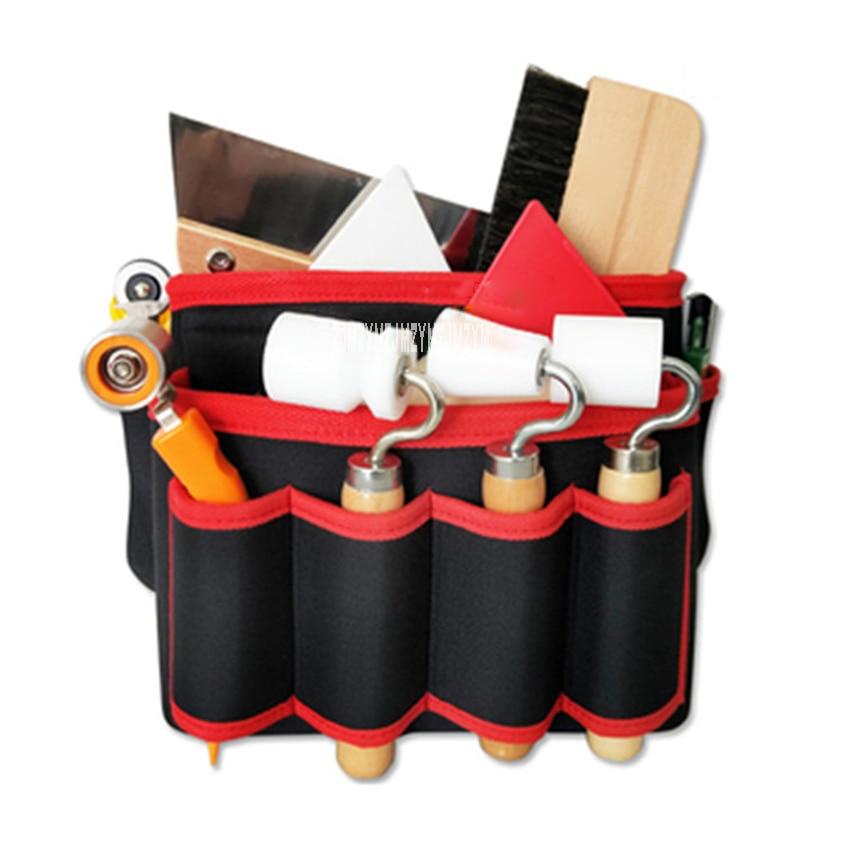 Outils de papier peint professionnel sac presse roue brosse couteau à découper grattoir ensemble complet tissu mural outils de Construction paquet - 1