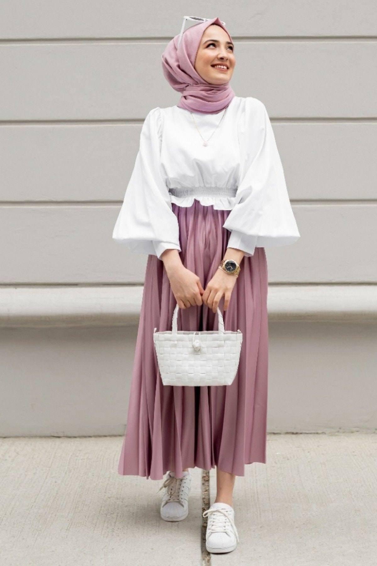 Muslim Abayas Suit Hijab Dress 2 PIECES Bottom and Top Fashion 4 Season Islamic Clothing Caftan Ramadan Dubai Made in Turkey