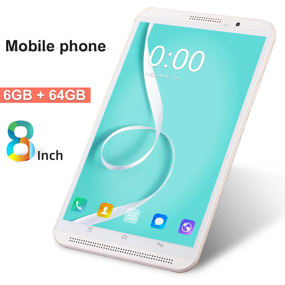 2020 Newest M1S 4G LTE Android 9.0 8 Inch Tablet Pc Octa Core 6GB RAM 64GB ROM 8MP IPS Tablets Phone 1280*800 MT8752 Computer