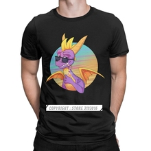 Lustige Sommer Vibes T Shirts für Männer Rundhals T-shirt Spyro die Drachen Lila Drachen Spiel T-shirt Weihnachten hemd