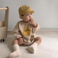 Autumn Winter Baby Bodysuit New Baby Boy Girl Warm Clothes Infant Cartoon Long Sleeve Jumpsuit 6-24M Newborn Clothes