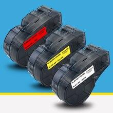 19.1mm*6.4m M21-750-595  Label Tape for M21-750-595-WT labelMaker Compatible for Brady BMP21-PLUS IDPAL for LABPAL Label Printer недорого