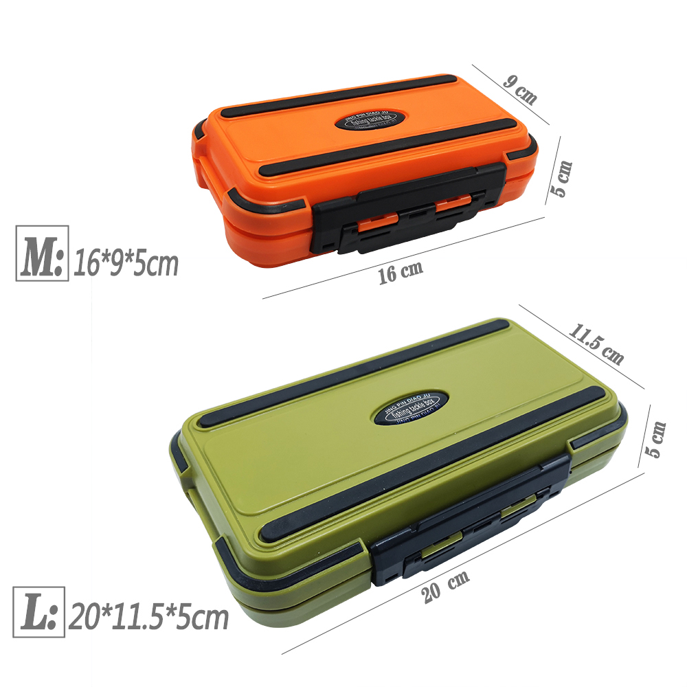 1* Fishing Tackle Box Double-Sided Hook Gadget Box Orange Easy Storage Plastic