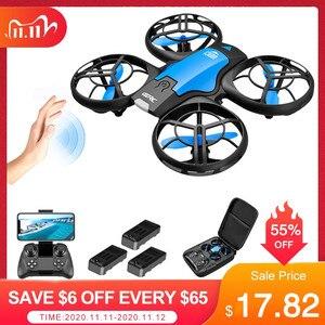 V8 Mini Drone 4K 1080P HD Camera WiFi Fpv Air Pressure Altitude Hold Black Quadcopter RC Drone Toy