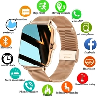 2021 New Color Screen Smart watch Ladies men Full touch fitness tracker Blood pressure smart clocks ladies smart watch Women+Box 1
