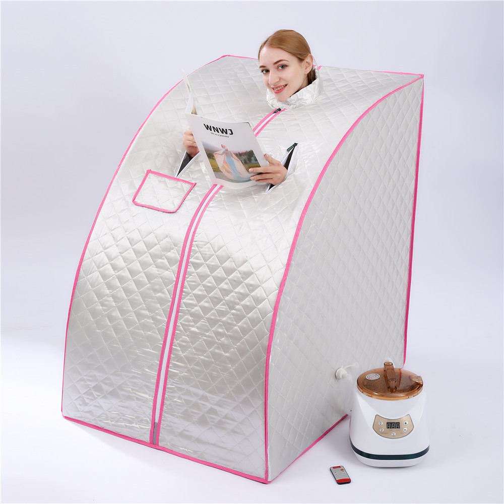 Portable Steam Sauna Home Sauna Generator 2.8L 1500W Slimming Household Sauna Box Ease Insomnia Stainless Steel Pipe Support