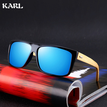 KARL Men Sunglasses Lentes De Sol Hombre Kurt Cobain Bamboo Women Polarized Uv400 High Quality
