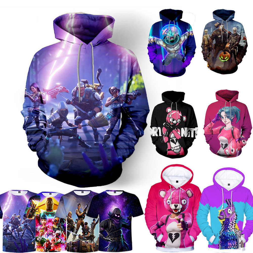 3D Hoodie Sweatshirts Game Battle Warm Hip-Hop Royal Victory White Children New
