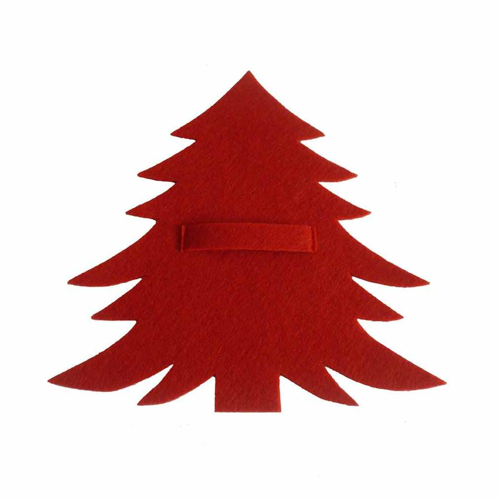 Juego de cubiertos de árbol de Navidad verde rojo, cuchillo y tenedor de árbol de Navidad verde rojo, regalo para niños, árbol de Navidad