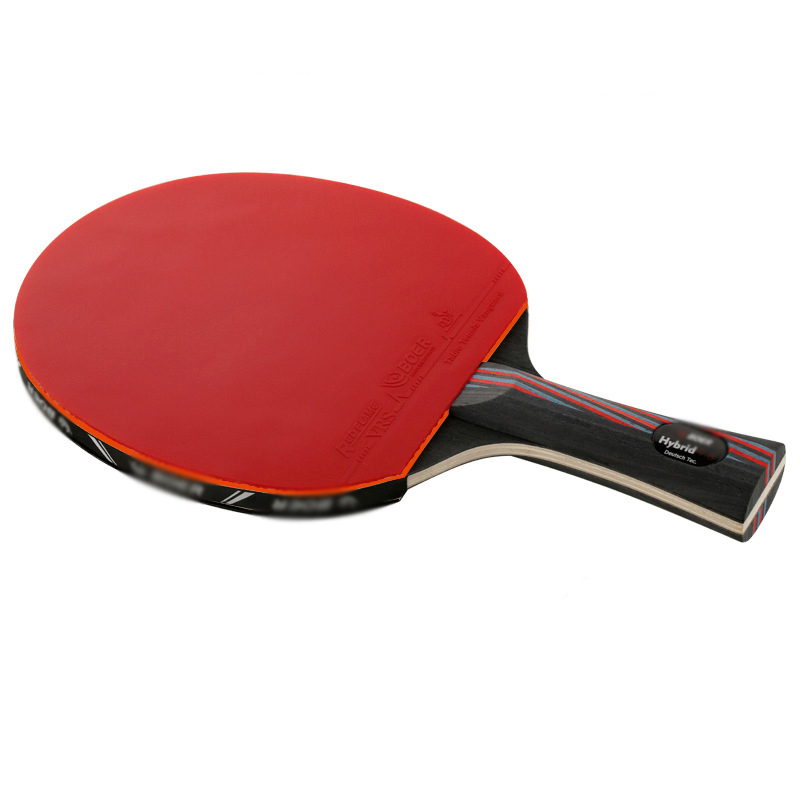 4 Star Carbon Wood Table Tennis Racket Rubber Blade Professional Training Competition Ping Pong Paddle Bat 1 Piece With Free Bag