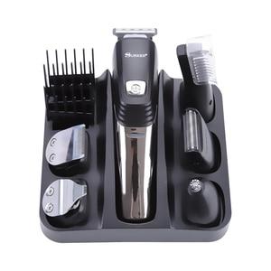 Image 1 - Surker 5 ב 1 מקצועי שיער קליפר USB טעינה שיער גוזם זקן האף גוזם לגברים תספורת מכונת טיפוח מכונת