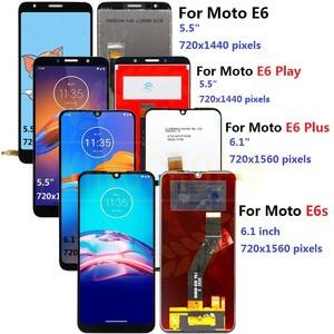 Image 1 - Dla Moto rola Moto E6s LCD E6 Play E6 Plus wyświetlacz ekran dotykowy czujnik digitizer montaż dla moto E6 Plus E6 E6S LCD z ramą