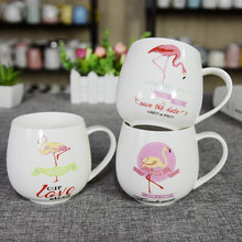 Hot sale Office Coffee Mug Tea Cup Water bottle Ceramic Cup Handgrip Bird Round Cup For Creative Christmas Gift Insulated Cup(China)