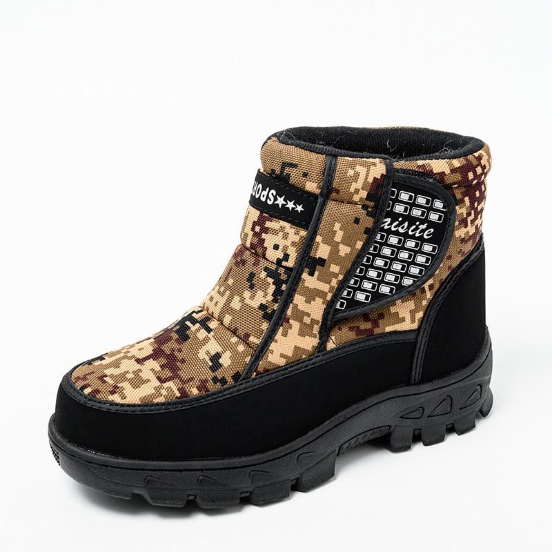 Купить зимние теплые ботинки на толстой подошве для пары уличные повседневные