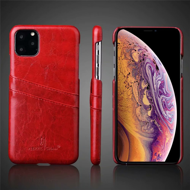 Slim Hard Leather Card Holder Case for iPhone 11/11 Pro/11 Pro Max 58