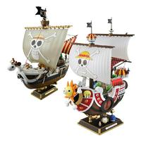 Anime One Piece Luffy Pirate Ship Action Figure Thousand Sunny Going merry DIY PVC Model Figurine Toys Gift