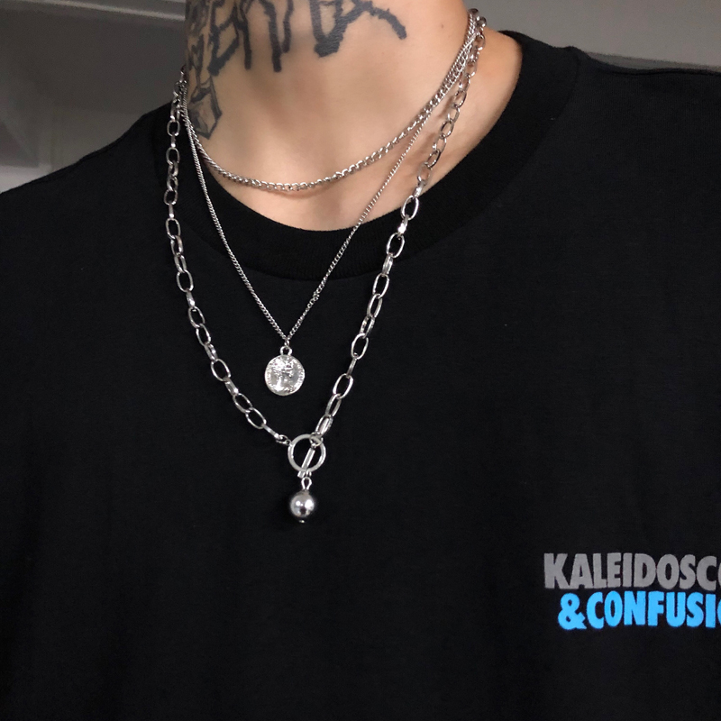 hip hop chain men women couple necklaces Necklace Waterproof Link Curb Chains necklace jewelry pendant
