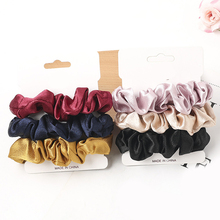 3 Pcs/set Woman Fashion Scrunchies Sets Chiffon Hair Ties Girls Ponytail Holders Rubber Band Femme Hairband Hair Accessories
