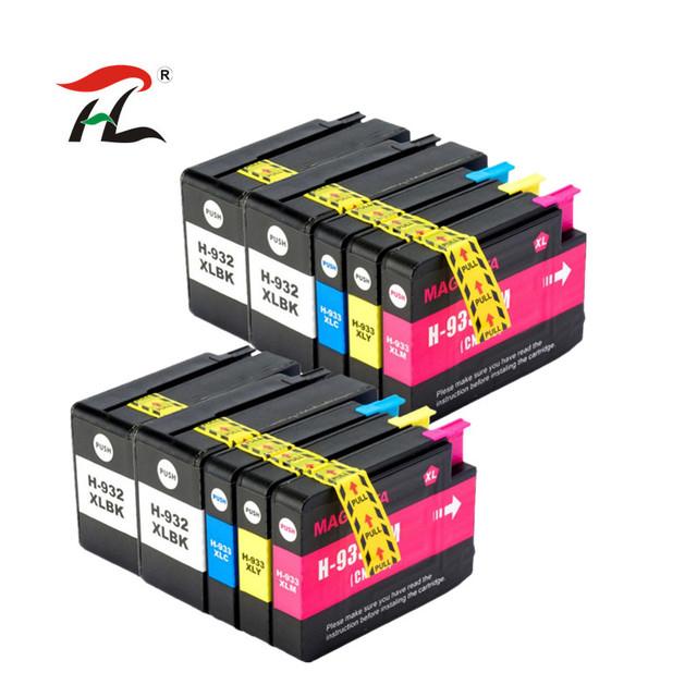 YLC 10PK 932XL 933XL kompatybilny dla HP932XL 933XL atrament kartridż do HP Officejet 6100 6600 6700 7110 7610 7612 drukarki tanie i dobre opinie NoEnName_Null Pełna Wkład atramentowy HP Inkjet