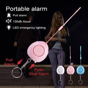 Image 2 - FUERS Alarm osobisty ochrona dla kobiet bezpieczeństwo w podeszłym wieku samoobrona Alarm 120dB głośny anty atak Alarm bezpieczeństwa pęku kluczy