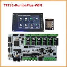 Imprimante 3d affichage MKS TFT35 écran tactile + MKS RumbaPlus + MKS WIFI moniteur FDM imprimante kit de bricolage TFT 35 LCD unité RUMBA conseil