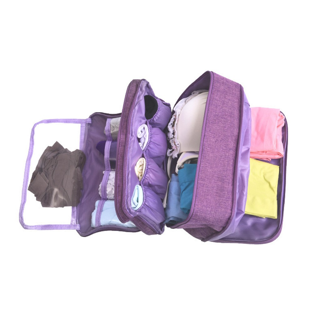 Women's Underwear Bags Useful Portable Travel Compartment Wash Cosmetic Clothes Organizer Fashion Bra Storage Cases Accessories