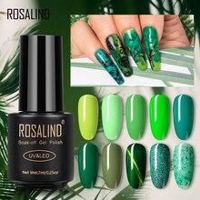 ROSALIND orman yeşil renk serisi jel oje manikür hibrid vernikler gerek taban üst jel lehçe Nail Art tasarım