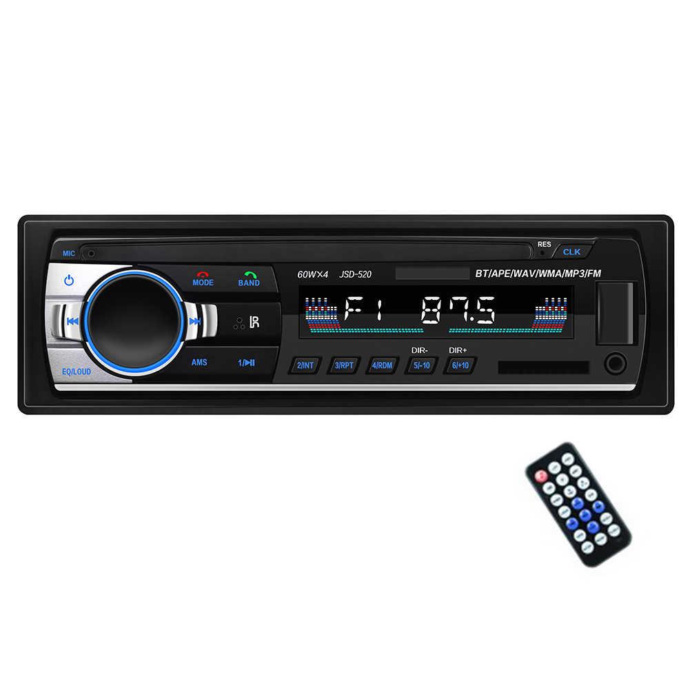 TOSPRA سيارة مشغل وسائط متعددة بلوتوث Autoradio MP3 مشغل موسيقى راديو ستيريو بالسيارة FM Aux المدخلات استقبال USB 12 فولت في اندفاعة 1 الدين