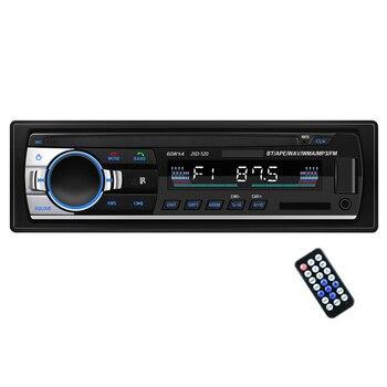 TOSPRA Car Multimedia Player Bluetooth Autoradio MP3 Music Player Car Stereo Radio FM Aux Input Receiver USB   12V In-dash 1 Din