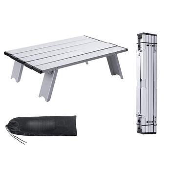 Odkryty składany stół plażowy Camping stół piknikowy Mini przenośny stół z torba do noszenia lekki Mini składany stół piknikowy tanie i dobre opinie CN (pochodzenie) Alluminium Alloy Minimalistyczny nowoczesny Samowystarczalny Rectangle 40 5 x 29 x 12 CM Na zewnątrz tabeli