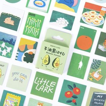 46 pcs/box cute Avocado memory  Decorative Stationery mini Stickers set Scrapbooking DIY Diary Album Stick Lable - discount item  18% OFF Stationery Sticker
