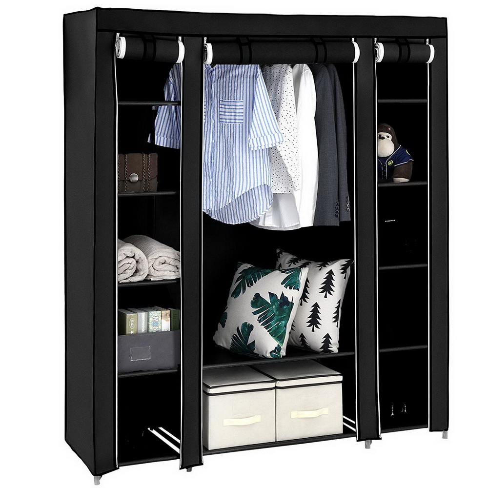 Storage-Cabinet Cloth Wardrobe Clothing Home-Furniture Folding Bedroom Portable Non-Woven