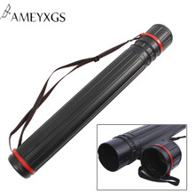 Archery Telescopic Quiver Arrow Holder Tube Back Case Adjustable 63 cm To 105 For Outdoor Shooting Accessories