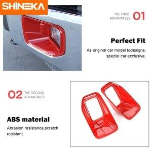Image 4 - SHINEKA סיבי פחמן אביזרי עבור פורד F150 2015 + רכב קדמי ערפילי אור משמר דקור כיסוי מדבקות עבור פורד F150 2015 2020