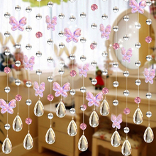 Top quality 1M Modern Crystal Glass Waterdrop Curtain Window Living Room Wedding Decor