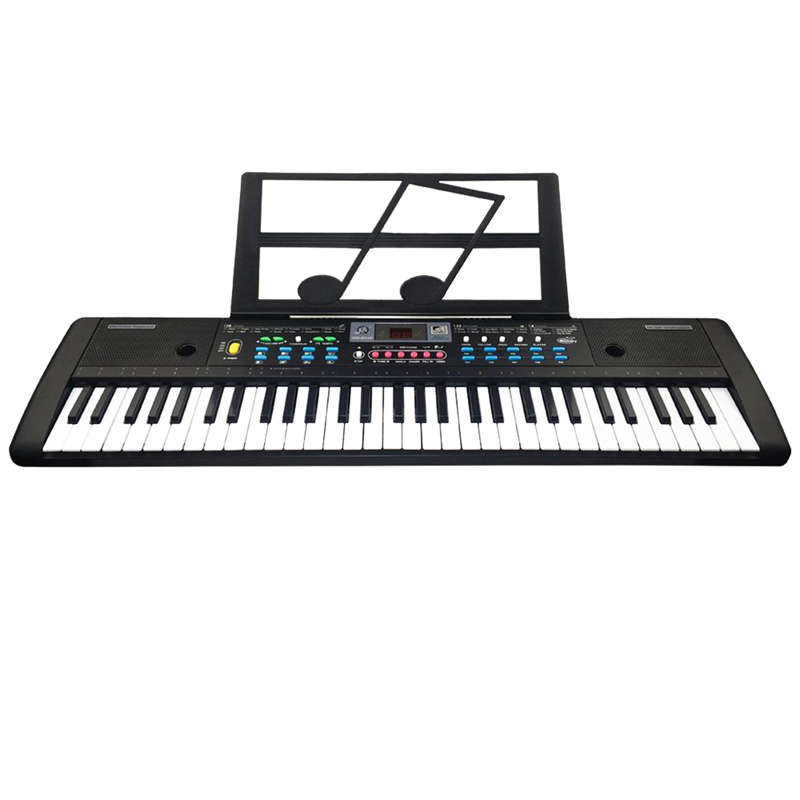 Dropship-61 Keys Digital Electronic Keyboard And Microphone Electric Led Music