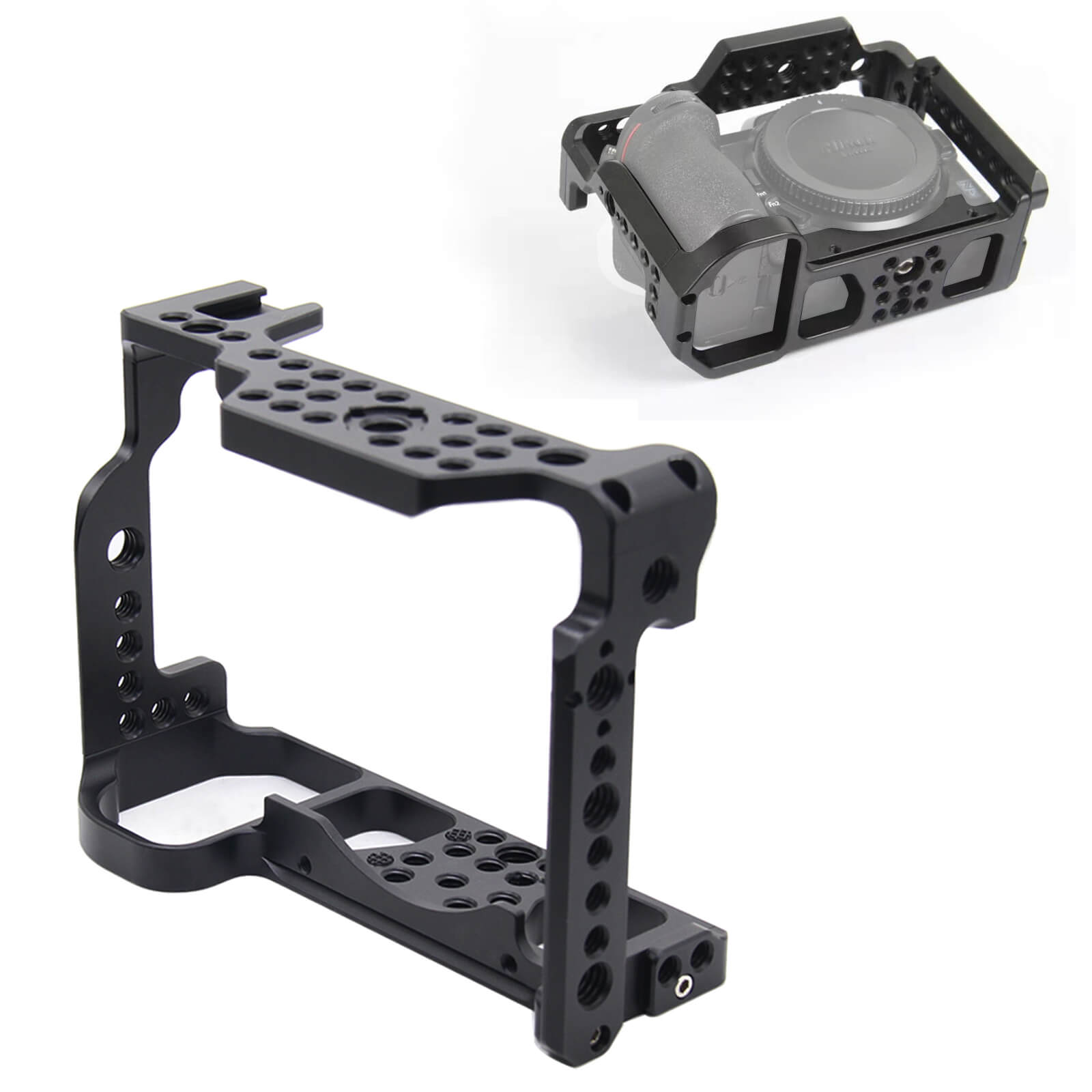 iShoot Aviation Aluminum Video Photography Camera Cage with Quick Release Plate for Nikon Z6 Z7 FX-Format Mirrorless Camera image