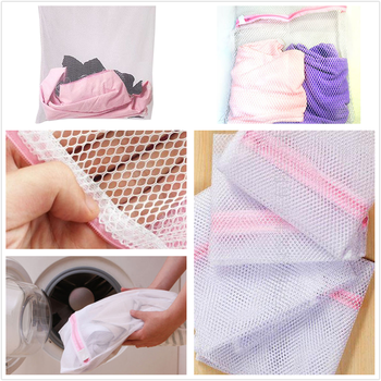 1PC Convenient Bra Clothes Wash Laundry Bags Protect Coarse Mesh Wash Bag Home Using Clothes Wash Bag image