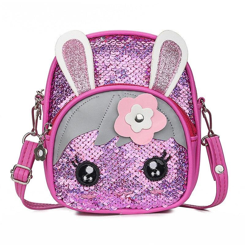 Детская сумка с блестками, сумка на плечо, 2019, Корейская версия, милый кролик, Детский рюкзак, Bolsa