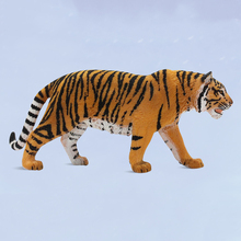 11CM PVC Realistic Yellow Tiger Toys Animal Model Action Figures Figurines Educational Kids Toys Gifts Collections