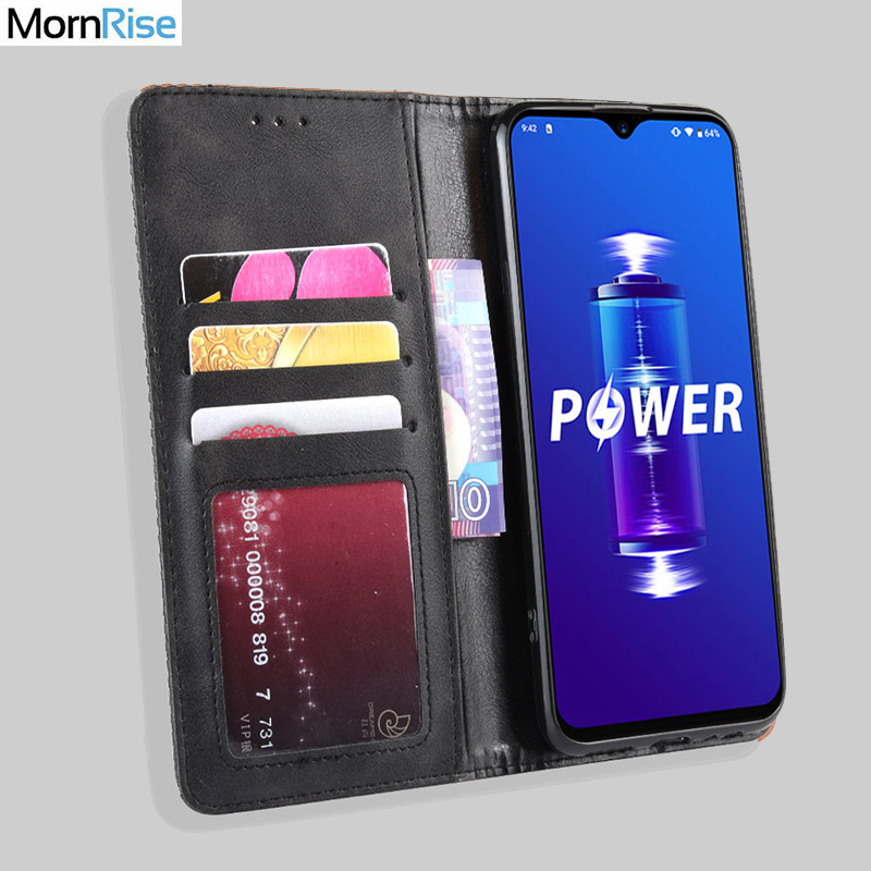 For UMI UMIDIGI Power Case Book Wallet Vintage Slim Magnetic Leather Flip Cover Card Stand Soft Cover Luxury Mobile Phone Bags