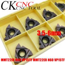 10PCS MMT22IR N60 VP15TF MMT22ER N60 VP15TF 3.5 6mm Thread cutting carbide insert 22ER/22IR for Threading Turning Tool  SER /SNL