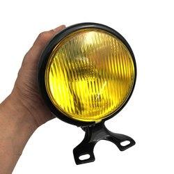 Uniwersalny reflektor motocyklowy okrągły 5 Cal 35W 12V z uchwytem żarówki halogenowe do Suzuki Retro Metal hurtownia na