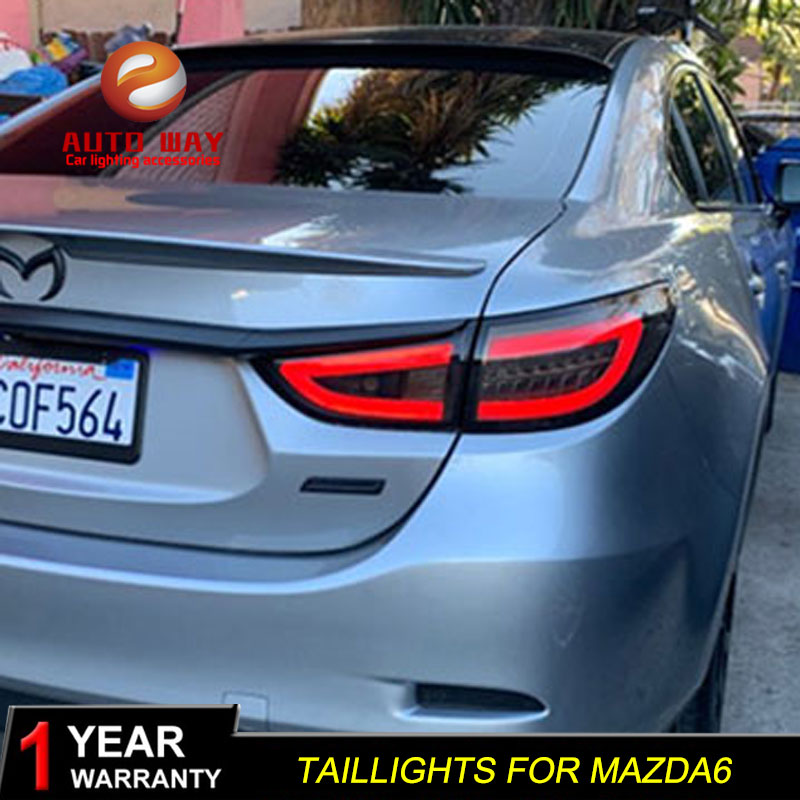 Car Styling case for Mazda6 <font><b>taillights</b></font> <font><b>Mazda</b></font> <font><b>6</b></font> <font><b>Taillight</b></font> ATENZA 2014 2015 TAIL Lights LED Tail Light LED Rear Lamp Certa image