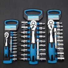Kit de clé à cliquet en acier chromé, Vanadium, Kit de clé à douille de Cycle