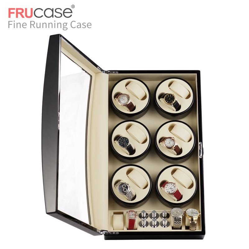 Image 4 - Automatyczna nakręcarka zegarków FRUCASE Black high finish zasilanie prądem zmiennym obsługa ultra cisza 12 + 4Pudełka do zegarków   -
