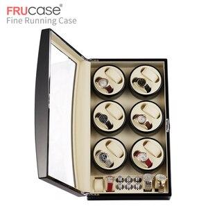Image 4 - FRUCASE siyah yüksek kaplama otomatik saat zembereği kutu ekran toplayıcı saklama AC güç kumandalı ultra sessiz 12 + 4