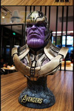 Avengers 3 Infinity War Thanos Figure 1/2 Bust Resin PVC Figure Model Toys Collection Marvel Figure Toys IN Box 36cm